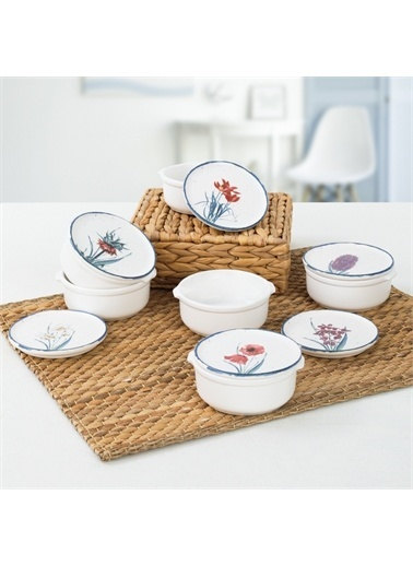 Keramika Anatolian Flowers Kahvaltılık 10 Cm 6 Adet Renkli